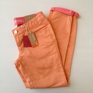 Mossimo light orange skinny ankle jeans NWT